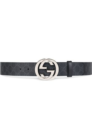 Gucci Muži Pásky - GG Supreme belt with G buckle