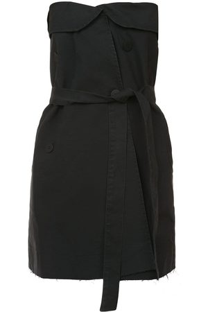 Unravel Project Strapless belted mini dress