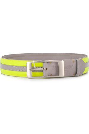 Issey Miyake 1990's striped skinny belt