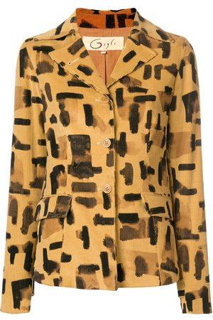 ROMEO GIGLI Brush stroke print jacket