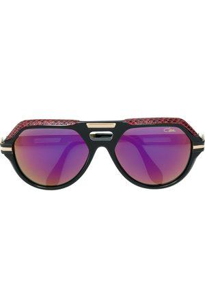 Cazal Sluneční brýle - Leather detail oversize sunglasses