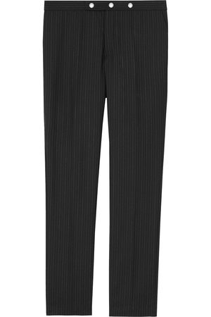 Burberry Classic Fit Pinstriped Wool Tailored Trousers