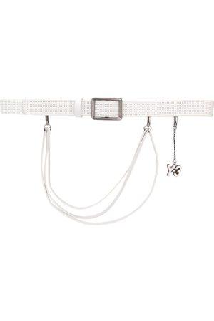 YOHJI YAMAMOTO 2000's logo charm perforated belt