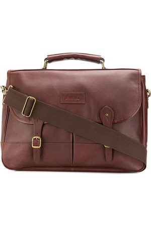 Barbour Foldover buckled strap briefcase