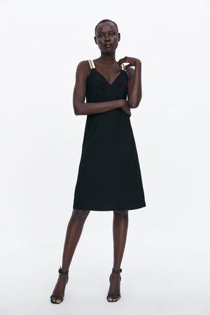 Zara šaty na kontrastní ramínka