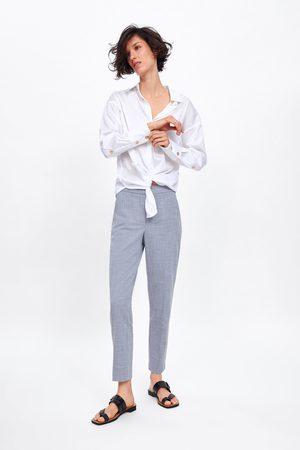 Zara úzké žíhané kalhoty