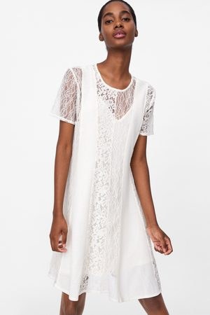 Zara šaty s kombinovanou krajkou