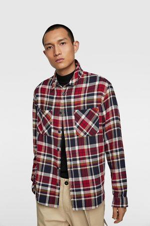Zara Muži Košile - Kostkovaná svrchní košile