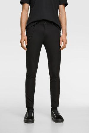 Zara Muži Úzké nohavice - Kalhoty super skinny s řetízkem