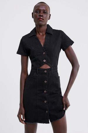 Zara Džínové šaty s knoflíky