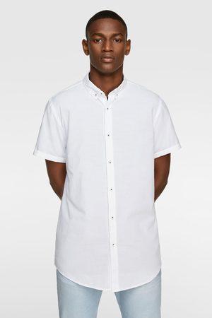 Zara Muži S krátkým rukávem - Košile se strukturou a krátkým rukávem