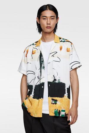 Zara Košile s abstraktním potiskem