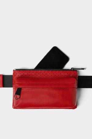Zara červená ledvinka s detailem mikro perforace