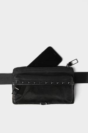 Zara černá ledvinka s detailem cvočků