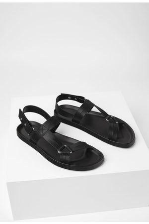 Zara Muži Sandály - černé páskové sandály