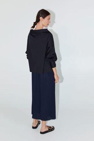 Zara široké plisované kalhoty