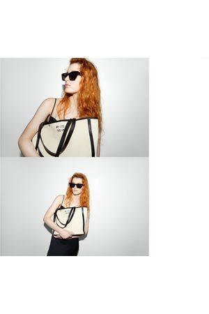 Zara Plátěná kabelka shopper