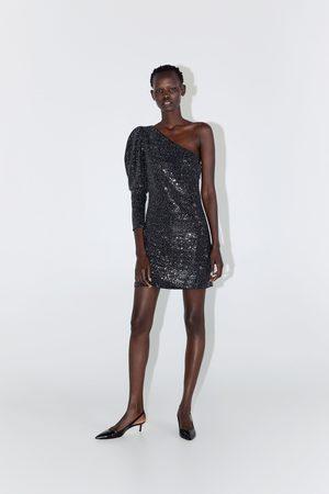 Zara Asymetrické šaty s flitry