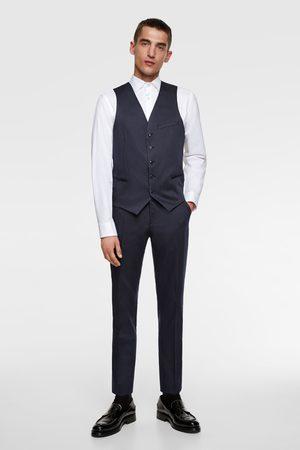 Zara Pruhovaná obleková vesta