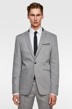 Zara Oblekové sako se strukturou a kontrasty