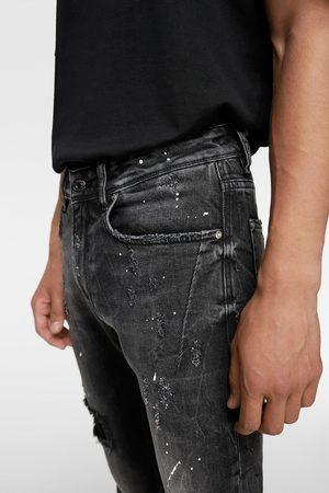 Zara Džíny skinny postříkané barvou