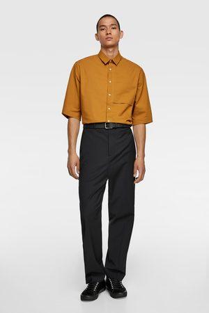 Zara Elastická košile s krátkým rukávem