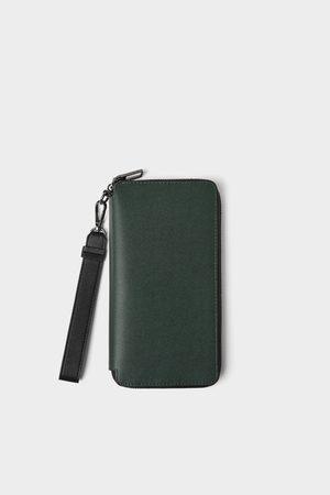 Zara černá elegantní peněženka s ražením
