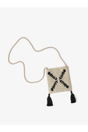 Zara Vyšívaná kabelka přes rameno se střapci