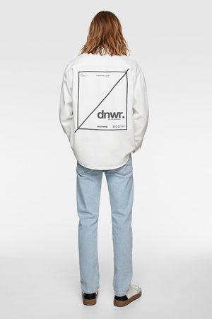 Zara Džínová košile s nápisem