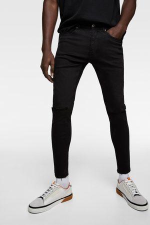 Zara Muži Skinny - Džíny super skinny s roztrháním