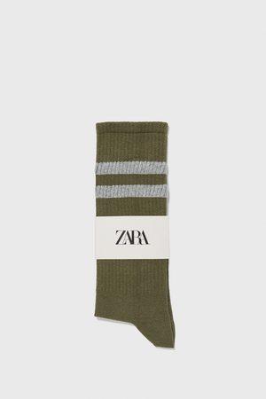 Zara Muži Ponožky - žebrované ponožky s proužky