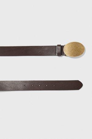 Zara Kožený pásek s přezkou