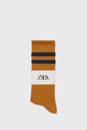 Zara žebrované ponožky s proužky