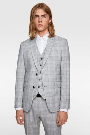 Zara Oblekové sako s kostkou