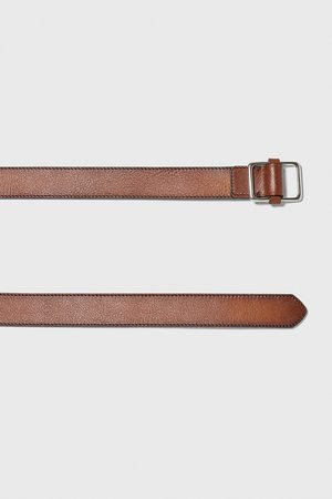 Zara Kožený pásek s prošitím