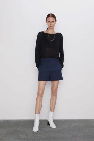 Zara Ženy Bermudy - šortky s vysokým pasem