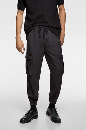 Zara Splývavé kalhoty cargo