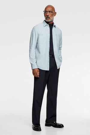 Zara Džínová košile chambray