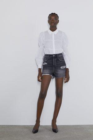 Zara Džínové šortky s rotrháním