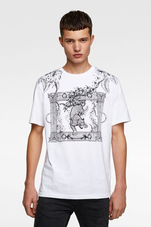 Zara Tričko s kombinovanou výšivkou
