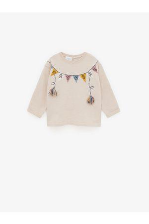 Zara úpletový svetr s motivem vlaječky