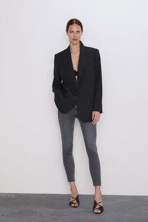Zara Džíny zw premium 80's high waist inox black