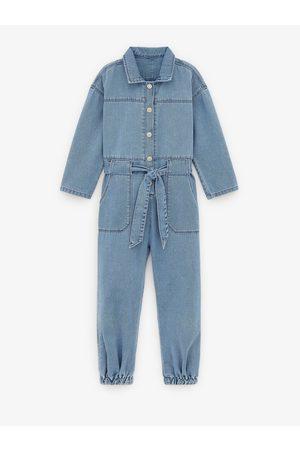 Zara Džínové kalhoty s laclem stylu worker
