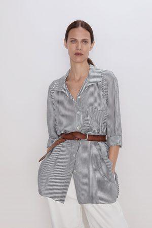 Zara Košile s proužky a kapsou