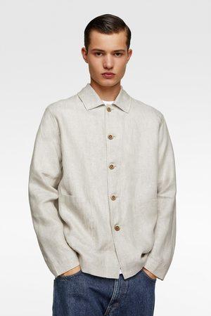 Zara Lněná svrchní košile