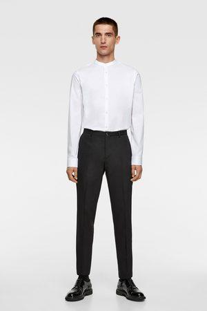 Zara Muži Košile - Elastická košile s korejským límečkem