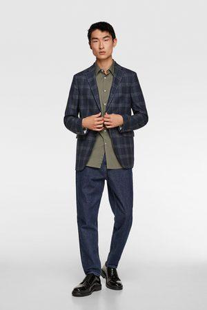 Zara Oblekové sako s velkou kostkou