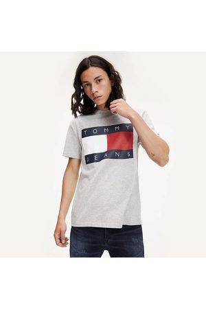 Tommy Hilfiger Muži Trička - Pánské šedé tričko Flag