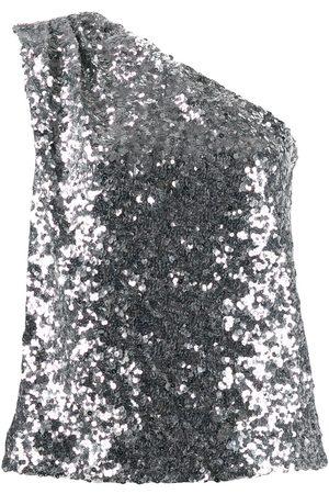 HALPERN Off-the-shoulder sequin top