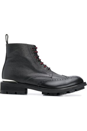 Alexander McQueen Logo plaque lace-up boots